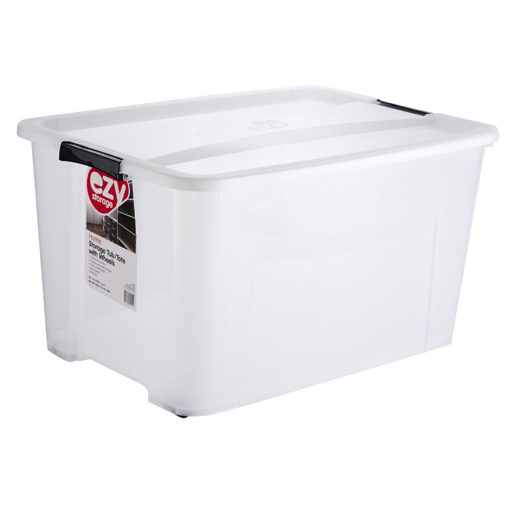 Ezy Storage 92L Storage Tub Clear | Officeworks