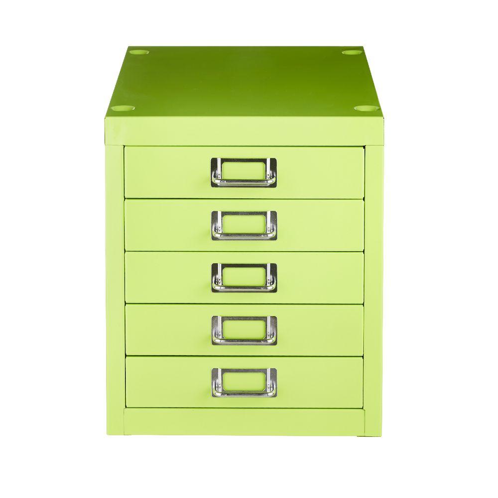 New spencer desktop 5 drawer office filing storage cabinet a4 green ebay - Officeworks desktop ...