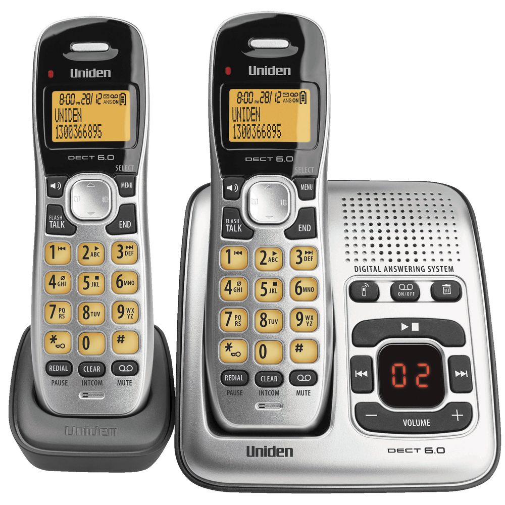 Uniden Cordless Phone with 2 Handsets 1735+1  eBay