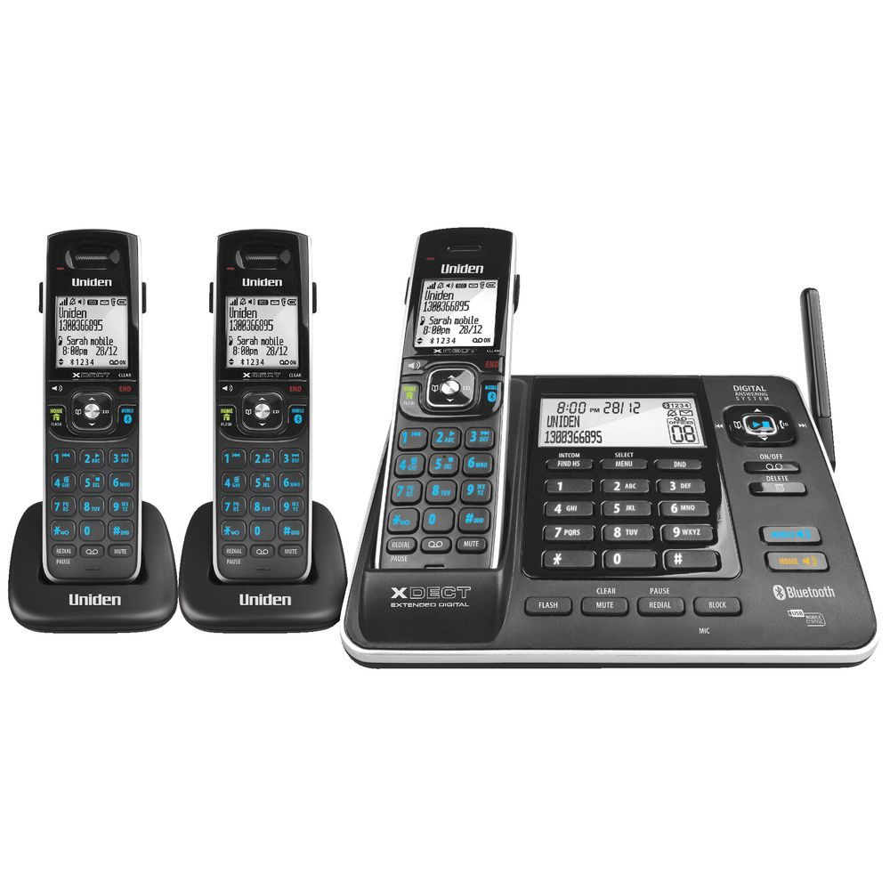 Uniden Cordless Phone with 3 Handsets 8355+2  eBay