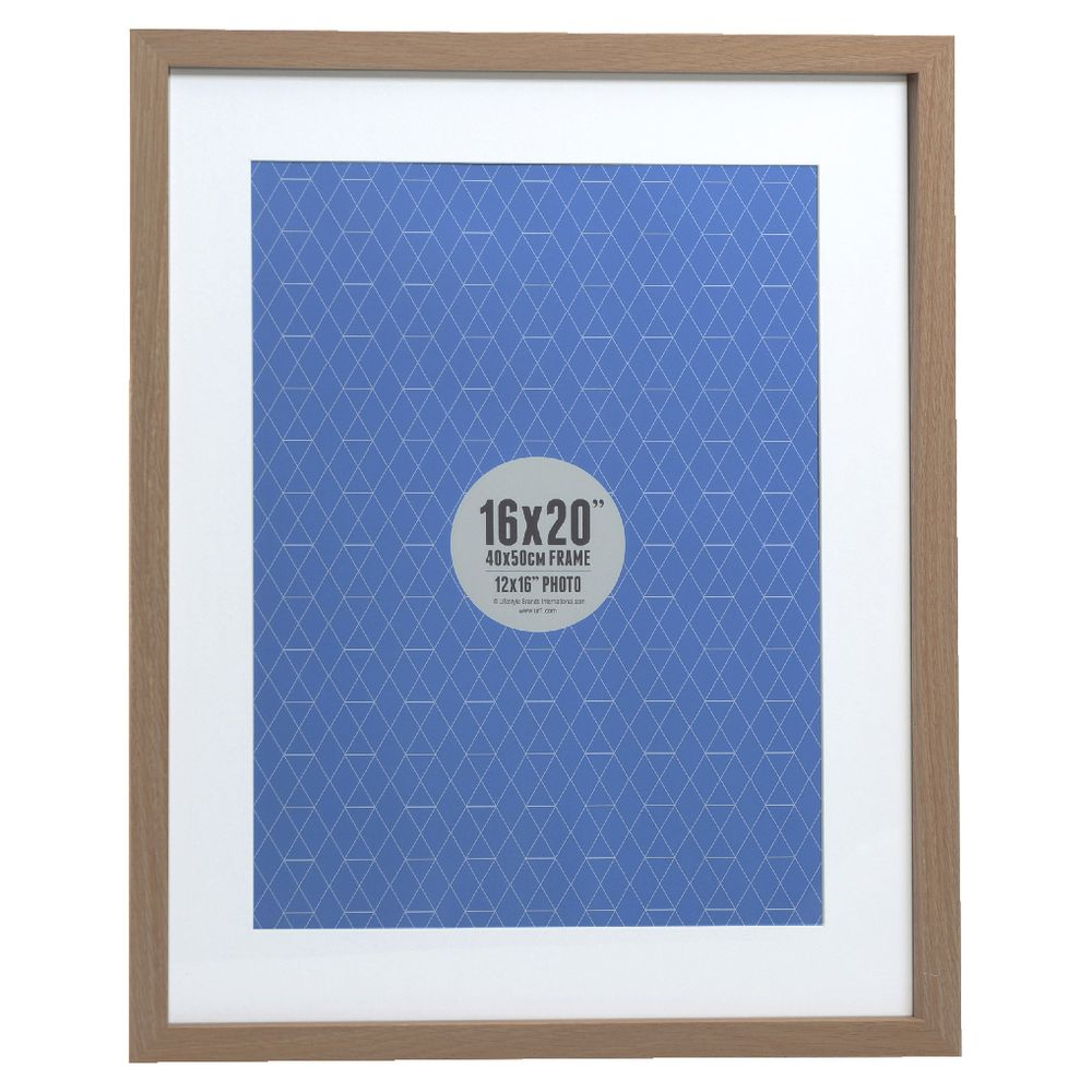 promenade frame 16 x 20 with 12 x 16 opening oak ebay. Black Bedroom Furniture Sets. Home Design Ideas