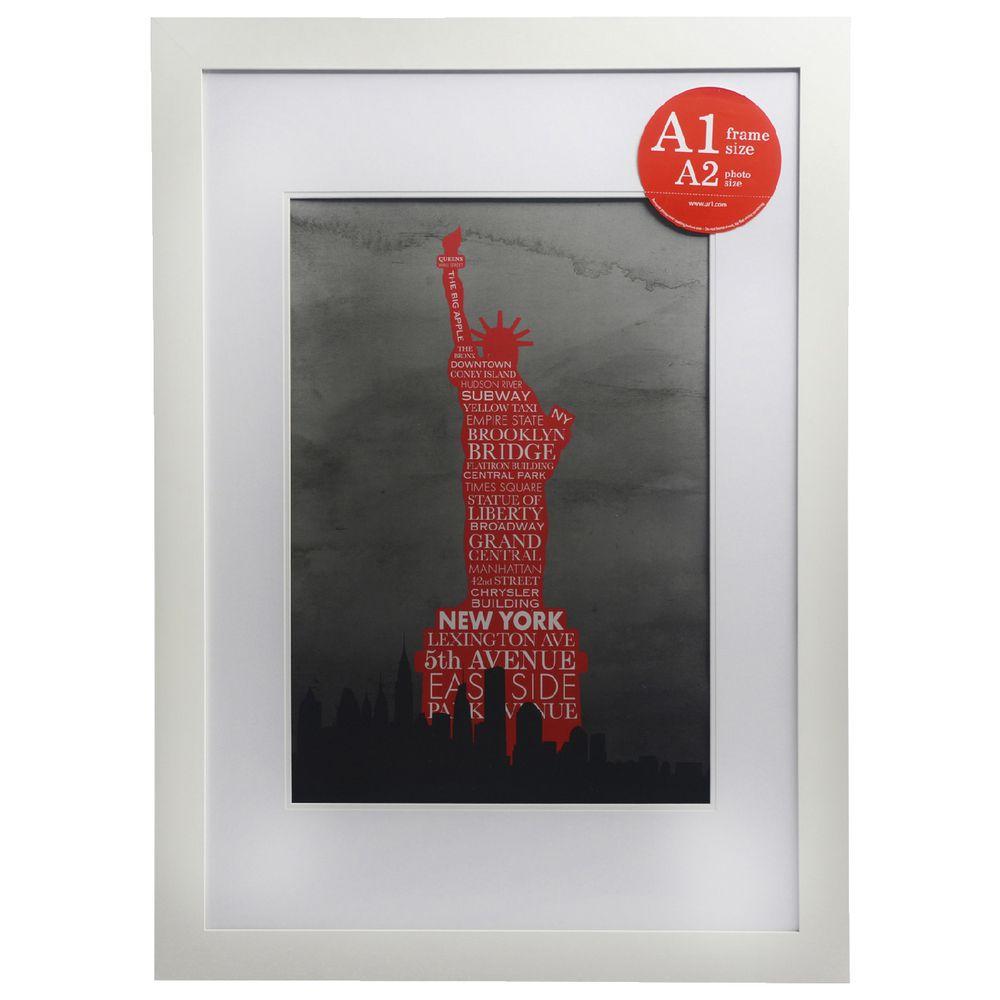 Red poster frame