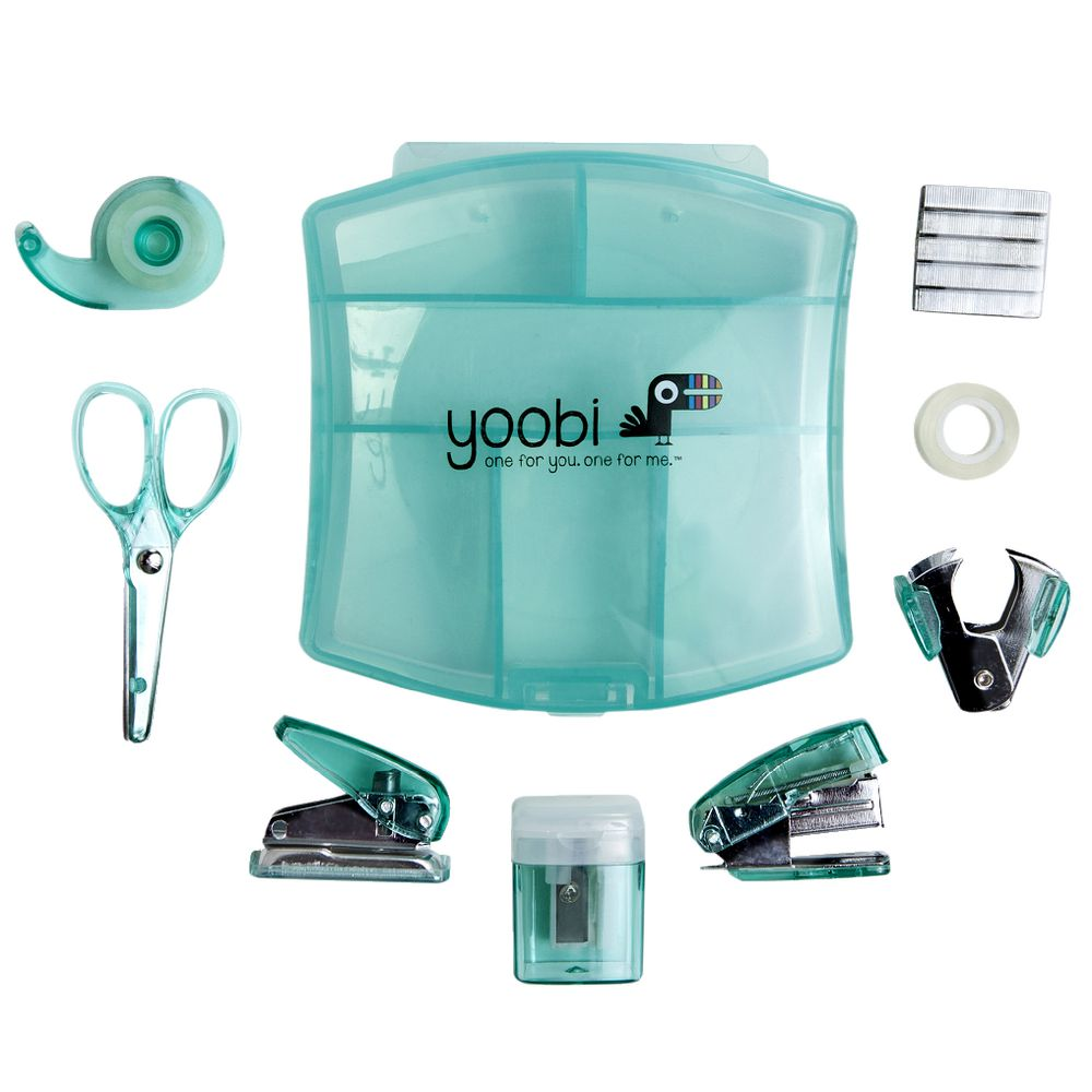 Yoobi Mini Stationery Set Aqua Ebay