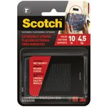 Scotch Fasteners 25mm x 76mm Black 4 Pack