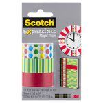 Scotch Expressions Tape 19mm x 7.6m Red Pattern 3 Pack