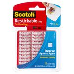 Scotch Restickable Mounting Tabs 25.4 x 25.4mm 18 Pack