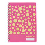 ColourHide My Designer Notebook A4 120 Page Pink Dots