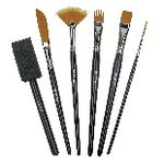 Derwent Technique Brushes 6 Pack