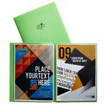 Aqua Drops Pocket File A4 6-Page Open Lime