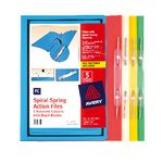Avery Foolscap Spiral Spring Files Assorted 5 Pack