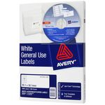 Avery General Use Labels White 14 UP 100 Sheet