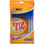 BIC Cristal Xtra Life Ballpoint Pens Blue 10 Pack