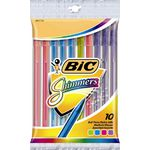 BIC Shimmers Ballpoint Pens Assorted 10 Pack