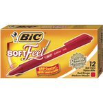 BIC Softfeel Ballpoint Pens Red 12 Pack