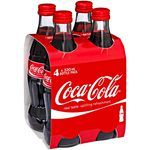 Coke Cola Glass Bottles 330mL 6x4Pack