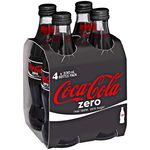 Coca-Cola Zero Glass Bottles 330mL 24 Pack