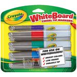 Crayola Visi-Max Dry Erase Whiteboard Markers Assorted 8 Pack