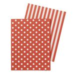 Display Book A4 Hard Cover 20 Pocket Fixed Spot/Stripe Red