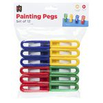 Educational Colours Painting Pegs 12 Pack