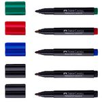 Faber-Castell Connector Pen Permanent Markers Assorted 5 Pack