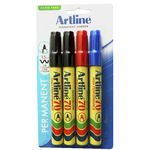 Artline 70 Permanent Markers Assorted Colours 4 Pack