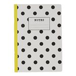 Go Stationery A4 Exercise Book Monochrome Black Polka 56 Page