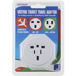 Jackson Visiting Tourist Travel Adaptor UK and USA