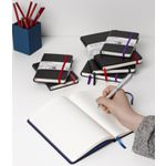 J.Burrows Journal 135 x 210mm Black with Purple Elastic