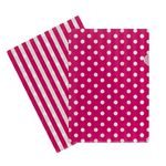 Letter File A4 Single Printed Hot Pink Spot