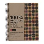 Miquelrius A5 Recycled Notebook 7mm Ruled Button 240 Page