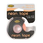 Neon Invisible Adhesive Tape 18mm x 33m with Dispenser Orange