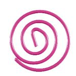 Otto Brights Paperclips 100 Pack Pink