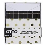 Otto Modern Thank You Card and Envelope Set 10 Pack
