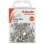 Esselte Safety Pins Assorted Sizes 60 Pack