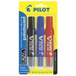 Pilot V Super Colour Permanent Markers Assorted 3 Pack