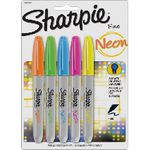 Sharpie Fine Neon Permanent Markers Assorted 5 Pack
