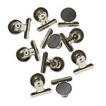 J.Burrows Magnetic Bulldog Clip 10 Pack