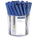 Staedtler Stick 430 Medium Ballpoint Pens Blue 50 Pack