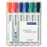 Staedtler 351 Whiteboard Markers Bullet Tip Assorted 6 Pack