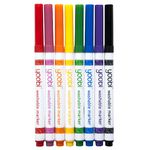 Yoobi Thin Washable Markers 8 Pack Multi-coloured