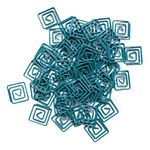 Yoobi Fun Paperclips Aqua 50 Pack