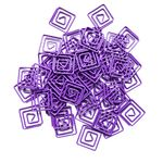Yoobi Fun Paperclips Purple 50 Pack