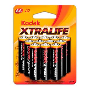 Kodak Xtralife Alkaline AA Batteries (12 pack)