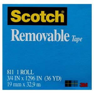 Scotch Magic Removable Adhesive Tape 19mm x 33m