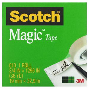 Scotch Magic 810 Invisible Adhesive Tape 19mm x 33m