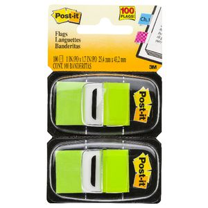 Post-it Flags Bright Green 2 Pack