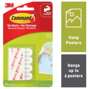 Command Poster Mounting Strips 12 Pack