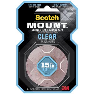 Scotch Permanent Clear Mounting Tape 25.4mm x 1.51m