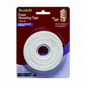 Scotch Foam Mounting Tape 12.7mm x 3.81m