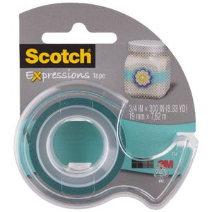 Scotch Expressions Tape 19mm x 7.6m Turquoise